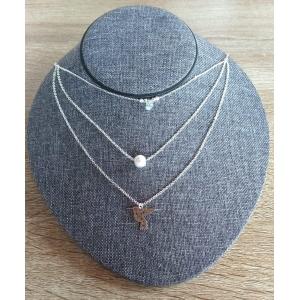 Collares de plata (cadena y dije)