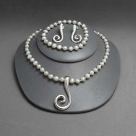Set Necklace-Bracelet-Earring Silver
